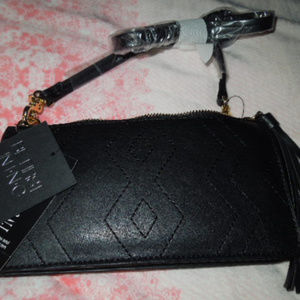 NWT I.N.C. black faux leather small purse